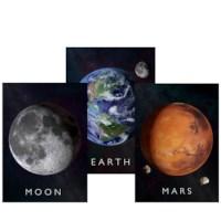 Curiscope Multiverse AR Poster Set - Erde/Mond/Mars