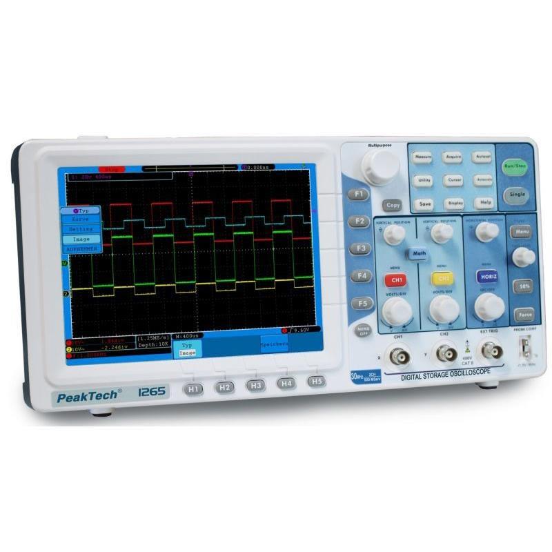 Digitale oscilloscoop 30 MHz 250 MS/s 2 kanaals