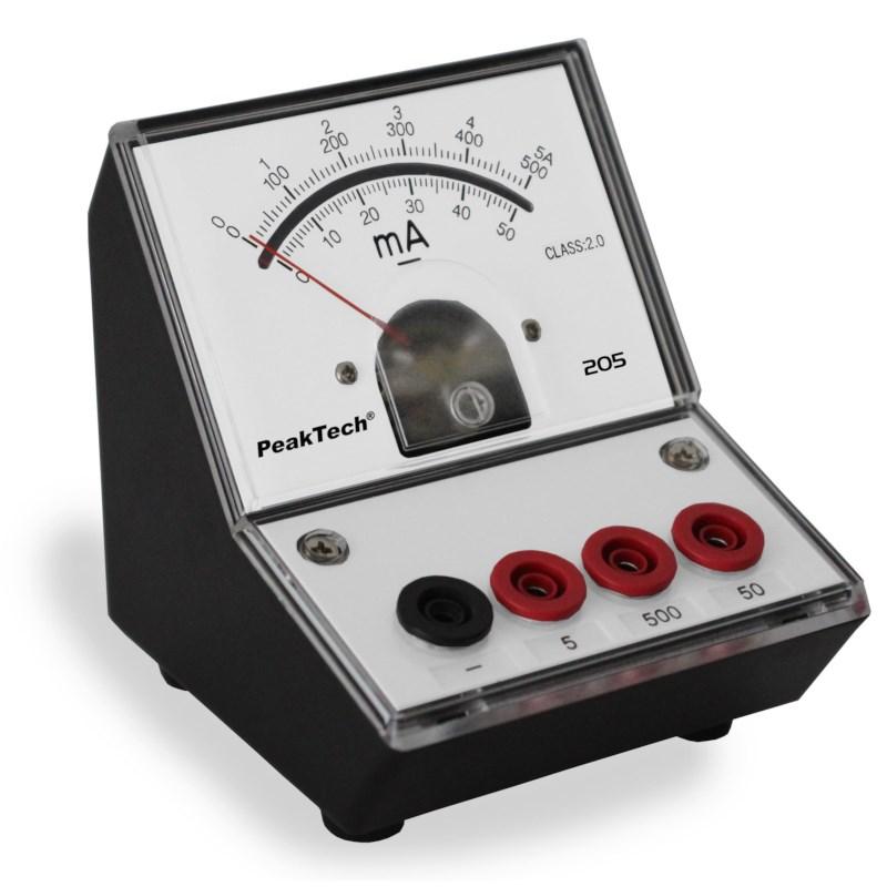 Analoge ampèremeter - 0...50/500mA/5A DC
