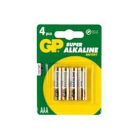 Batterij AAA LR03 mini penlite, verpakking van 4 stuks