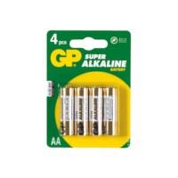 Batterij AA LR06  penlite, verpakking van 4 stuks