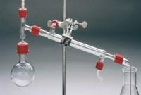 Practicum Destillatieset GL25 in foam inlage in Gratnells bak met deksel