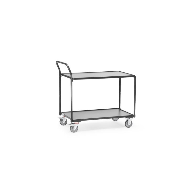 Tafelwagen grijs 985x500x1040 - 2 legborden