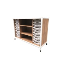 Steelwood kast afm. 1400x520x900mm (bxdxh) Kersen