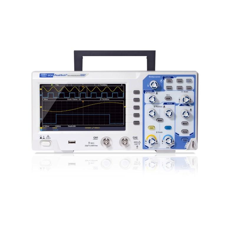 Digitale oscilloscoop 100MHz/2 CH, 1GS/s