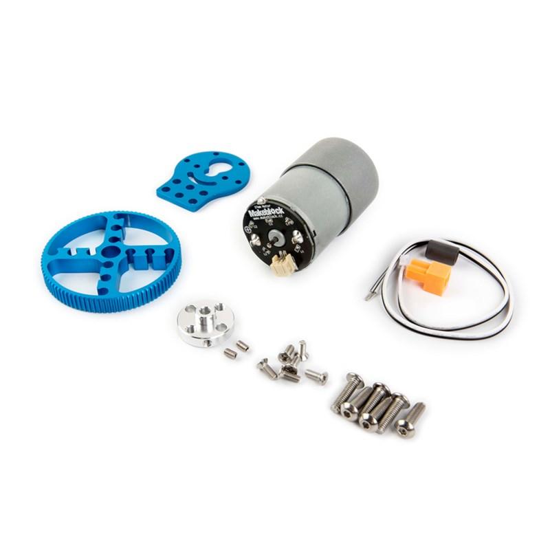 37 mm DC motor Robot set blauw