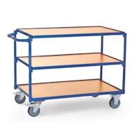 Tafelwagen blauw Laserbox - 3 legborden