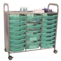 Gratnells Callero + Trolley 3 rijen Biocote Antimicrobieel