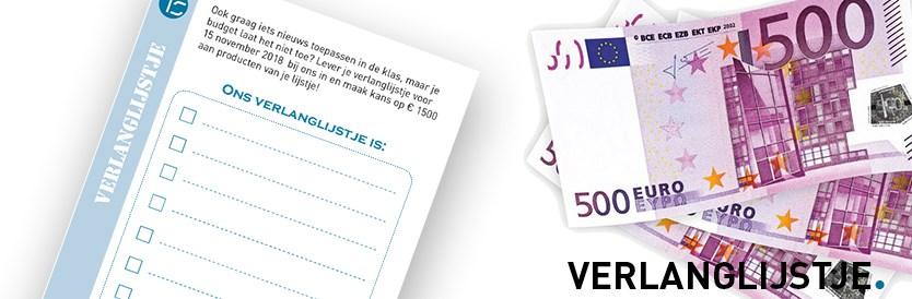 Maak kans op gratis leermiddelen t.w.v. € 1.500,-