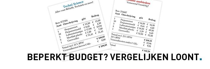 Beperkt budget? Vergelijken loont!